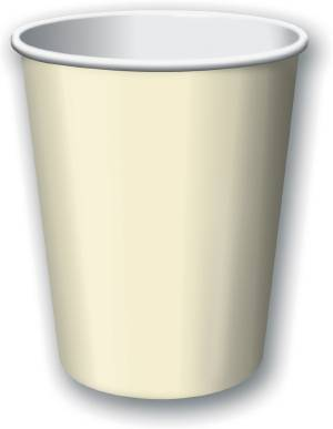 Ivory 9oz. Hot / Cold Paper Cup 25ct.