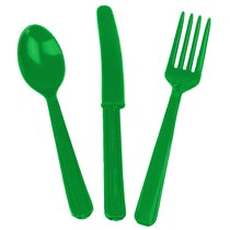 Kelly Green Plastic Forks 24ct.