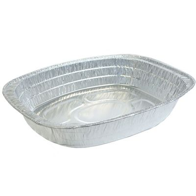 Large Oval Oven Aluminum Disposable Pan Rack Roaster