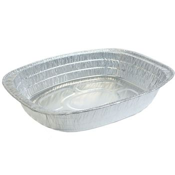 Large Oval Oven Aluminum Disposable Pan Rack Roasters *Case of 100*