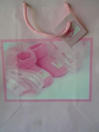 "Large Pink ""Blessings"" Gift Bag"