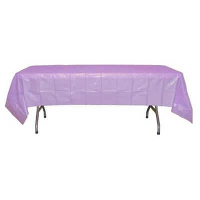 "Lavender Rectangular Plastic Tablecloths 54"" x 108"""