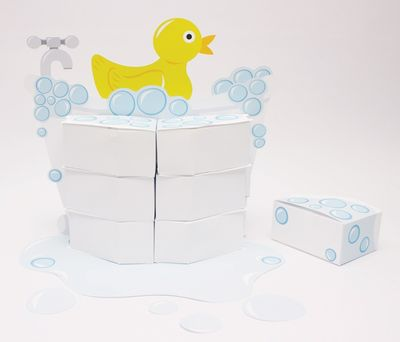 Lil' Quack Baby Shower Centerpiece with Favor Boxes