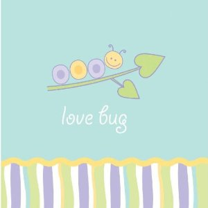 Love Bug Baby Shower Beverage Napkins 16ct.