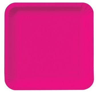 "Magenta 7"" Square Lunch Plates, 18 ct."