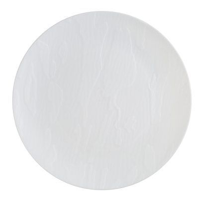 """Mahogany Collection 10"""" White Wood-Like Plastic Dinner Plates, 10 count"""