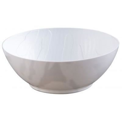 Mahogany Collection 12oz. White Wood-Like Plastic Soup Bowls, 10 count