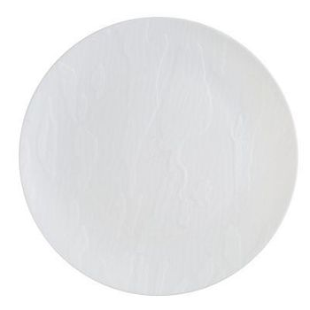 """Mahogany Collection 7.5"""" White Wood-Like Plastic Salad Plates, 10 count"""