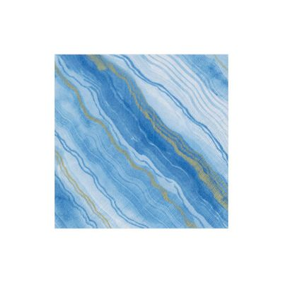 Marble Blue Cocktail Napkins 20ct
