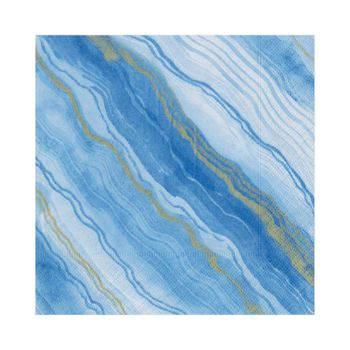 Marble Blue Lunch Napkins 20ct