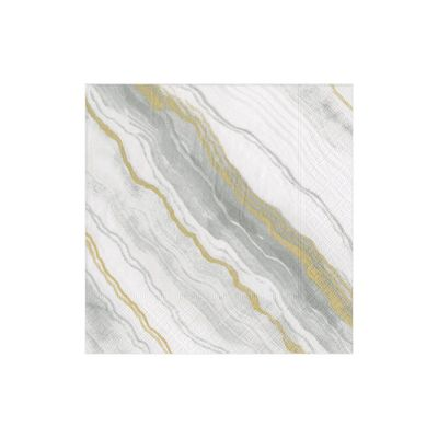 Marble Grey Cocktail Napkins 20ct