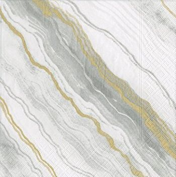Marble Grey Lunch Napkins 20ct