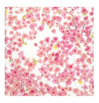 Meryl Pink Flowered Lunch Napkins- 20 Napkins per Pack