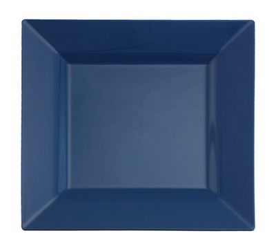 "Midnight Dream Blue 9.5"" Square Plastic Dinner Plates 10ct."