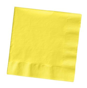 Mimosa Yellow 2-Ply Beverage Napkins, 50 ct.