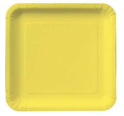 """Mimosa Yellow 9"""" Square Dinner Plates, 18 ct."""