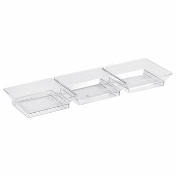 Mini-Ware 3 Section Clear Plastic Dish 5ct.