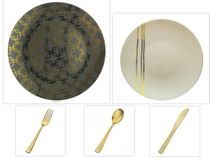 Motif Design Collection: Gray, Gold, & Cream - Party Packages