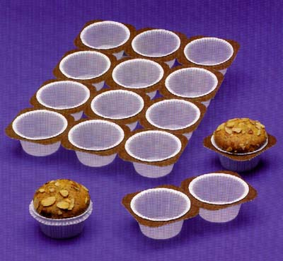 Muffin Trays 2oz. Paper Baking Molds 12 Cups