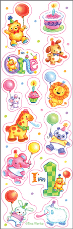 My 1st Happy Birthday Party Stickers