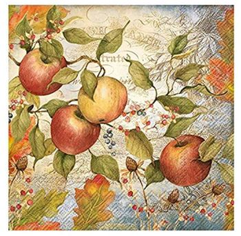 Apple 3-Ply Paper Lunch Napkins, 20-Count