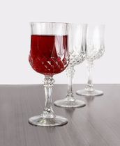 Crystal Like 8oz. Plastic Wine Glasses, 4ct.