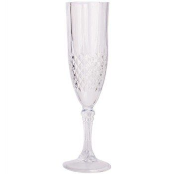 Crystal Like 5oz. Plastic Champagne Glasses, 4ct.
