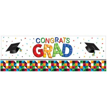 Graduation Party Fractal Fun Giant Party Banner