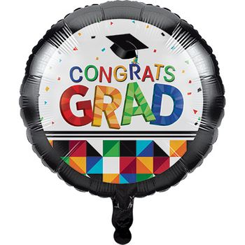 Graduation Party Fractal Fun Mylar Balloon