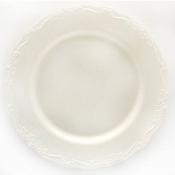 "Casual Collection 7"" Ivory Plastic Salad Disposable Plates 10ct."