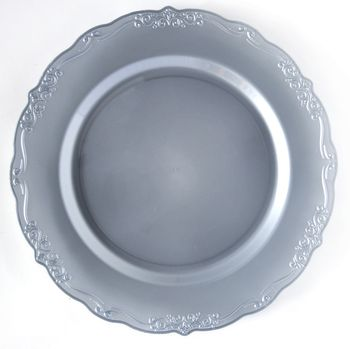 "Casual Collection 7"" Silver Plastic Salad Disposable Plates 10ct."