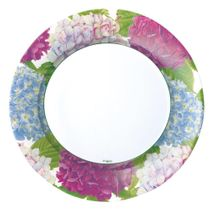 "Hydrangea Garden Floral Paper 10"" Dinner Plates in Blue 8ct."