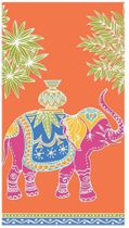 Caspari Royal Elephant Paper Guest Towel Napkins in Orange, Pack of 15