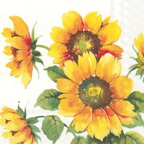 Colorful Sunflowers Paper Cocktail Napkins: 20 Napkins per Pack