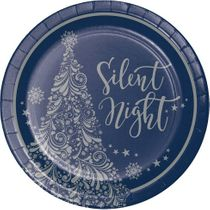 Creative Converting Silent Night Paper Plates, 9""