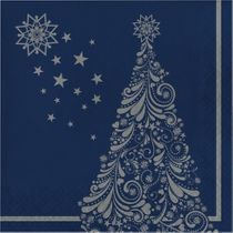 Inspirational Religious Christmas Silent Night Theme Napkins