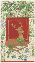 Christmas Hand Towels, Rustic Christmas Decor, Christmas Bathroom Decor, Guest Towels, Paper Hand Towels Stag Red: 15 Guest Towels per Pack