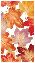 Fallen Leaves Paper Guest Towel Napkins, 15 Per Package
