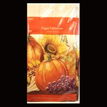"Thanksgiving Fall Harvest Cornucopia Blessings Paper Tablecover 54"" x 88"""