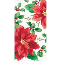 Elegant Poinsettia Guest Towels 16 Napkins per Pack