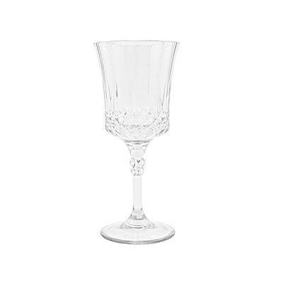 Crystal Like 5oz. Plastic French Goblets, 4ct.