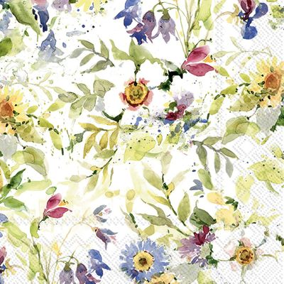 Packed Flower Lunch Napkins- 20 Napkins per Pack