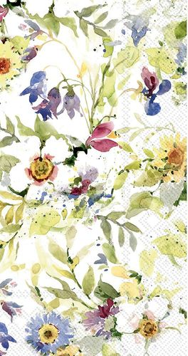 Packed Flower Guest Towels- 16 Guest Towels per Pack