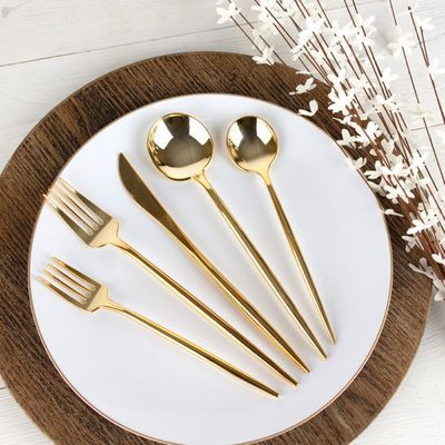 Novelty Collection Gold Looks Like Real Plastic Soup Spoons 32ct.