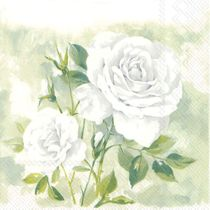 Rose Boutique White Paper Lunch Napkins: 20 Napkins per Pack
