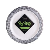 My Party Collection 9″ Lunch Plastic Plates 120 Count