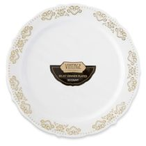 Vintage Collection Gold 10.25″ Dinner Plastic Plates 120 Count