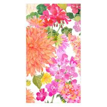 Summer Blooms Paper Guest Towel Napkins - 15 Napkins Per Package