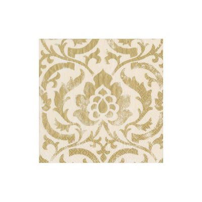 Baroque Paper Cocktail Napkins in Ivory - 20 Napkins Per Package