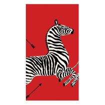 Zebras Paper Guest Towel Napkins in Red - 15 Napkins Per Package